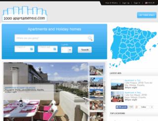 1000apartamentos.com screenshot