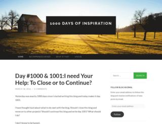 1000daysofinspiration.wordpress.com screenshot