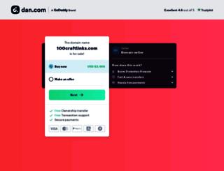 100craftlinks.com screenshot