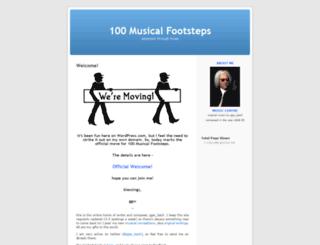 100musicalfootsteps.wordpress.com screenshot