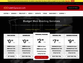 100webspace.com screenshot