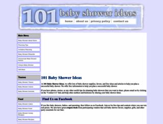 101babyshowerideas.com screenshot