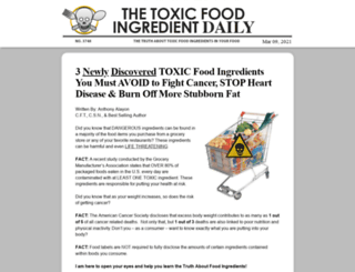 101toxicfoodingredients.com screenshot