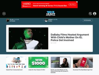 103jamz.iheart.com screenshot