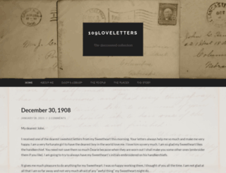 109loveletters.wordpress.com screenshot