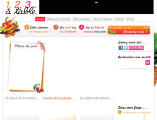 123atable.fr screenshot