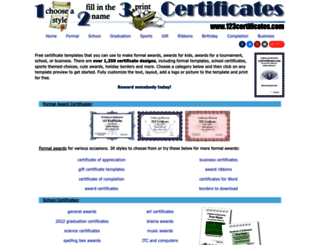 123certificates.com screenshot