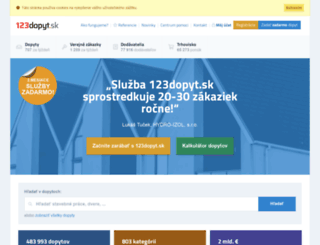 123dopyt.sk screenshot