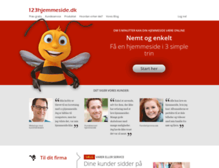 123hjemmeside.dk screenshot