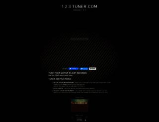123tuner.com screenshot