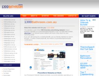 1300bathroom.com.au screenshot