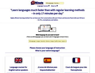 17-minute-languages.net screenshot