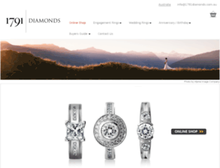 1791diamonds.com.au screenshot