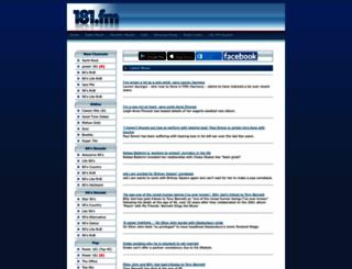 181.fm screenshot