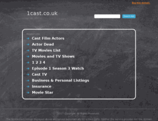 1cast.co.uk screenshot