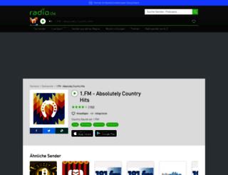 1fmabsolutelycountryhits.radio.de screenshot