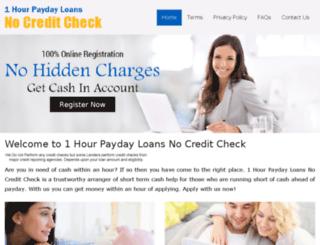 1hourpaydayloansnocreditcheck.com screenshot