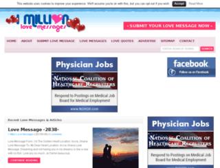 1millionlovemessages.com screenshot