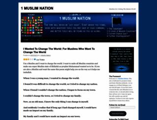 1muslimnation.wordpress.com screenshot
