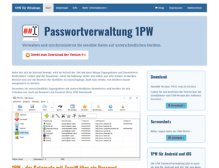 1pw.de screenshot