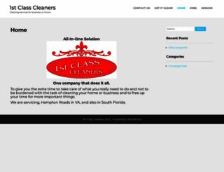 1stclasscleaners.com screenshot