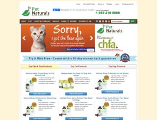 1stpetnaturals.com screenshot