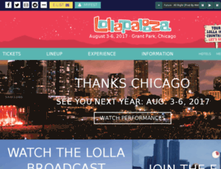 2009.lollapalooza.com screenshot