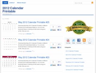 2012calendarprintable.us screenshot