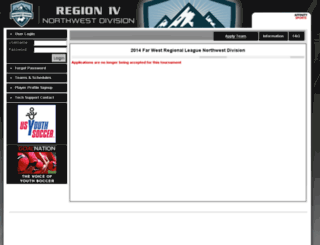 2014-northwestfwrl.affinitysoccer.com screenshot
