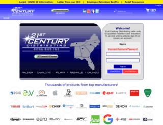 21stcenturydist.com screenshot