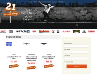 21streetshop.com screenshot
