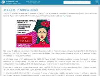 240.ipaddress.com screenshot