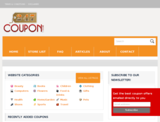 247coupon.com screenshot