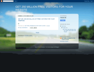 250million-free-visitors.blogspot.com screenshot