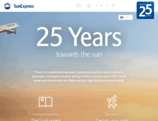 25years.sunexpress.com screenshot