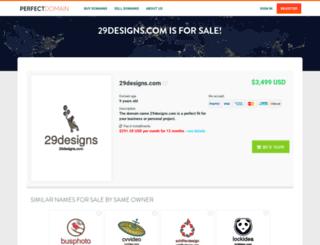 29designs.com screenshot