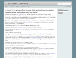 2daywealthconference.com screenshot