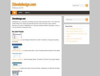 2dwebdesign.com screenshot