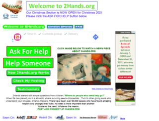 Access 2hands.org. One Hand Helping Another... 2Hands