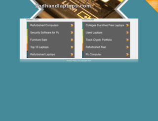 2ndhandlaptops.com screenshot