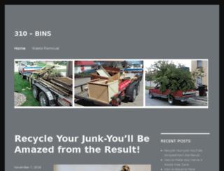 310bins.com screenshot