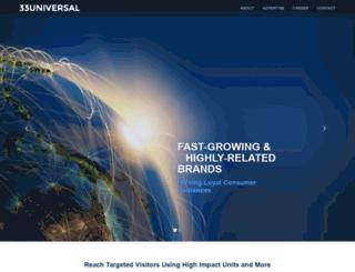 33universal.com screenshot