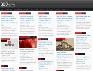 360news.co.za screenshot