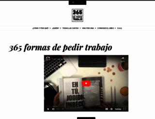 365formasdepedirtrabajo.com screenshot