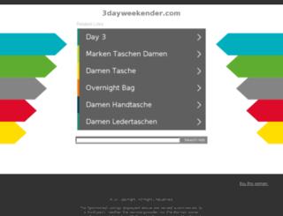 3dayweekender.com screenshot