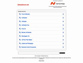 3dmaxforum.net screenshot