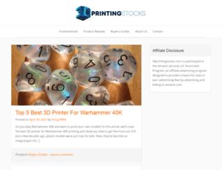 3dprintingstocks.com screenshot