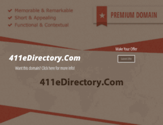411edirectory.com screenshot