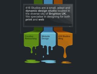 416studios.co.uk screenshot