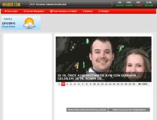 4haber.com screenshot